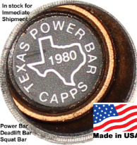 Buddy Capps Texas Power Bars, Deadlift Bars, Squat Bars
